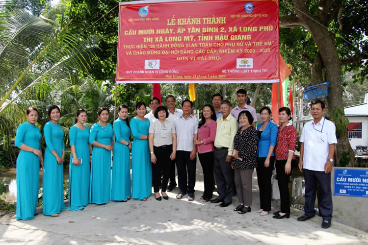Thinh Tri Law System participates in the inauguration of Muoi Ngai Bridge, Hau Giang Province