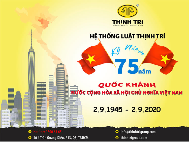 THE LAW SYSTEM OF THINH TRI CONCEPT 75 YEARS OF THE STATE OF THE SOCIALIST REPUBLIC OF VIETNAM (September 2, 1945 - September 2, 2020)