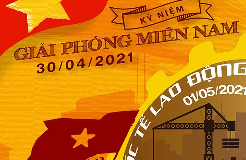 CÔNG TY LUẬT TNHH THỊNH TRÍ THÔNG BÁO NGHỈ LỄ GIẢI PHÓNG MIỀN NAM 30/04/2021 & QUỐC TẾ LAO ĐỘNG 01/05/2021
