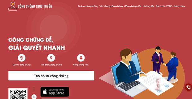 Ra mắt nền tảng công chứng trực tuyến đầu tiên tại Việt Nam